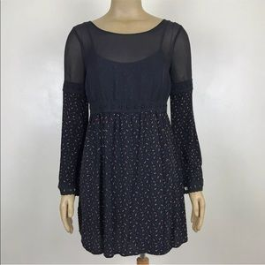 Free People Bell Sleeved Empire Waist Dress